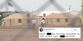 A tent city housing migrant children in Tornillo, Texas