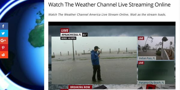 the weather channel streaming live on LiveNewsNow