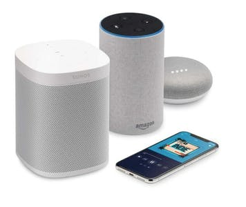streaming devices for the weather channel live, including Sonos and a smartphone