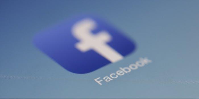 An image of the Facebook logo.