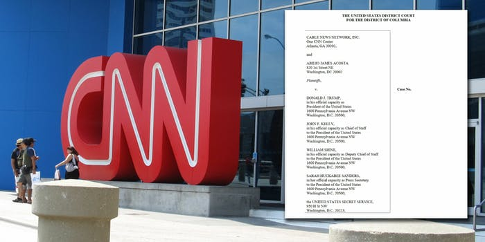 CNN is suing President Donald Trump and members of his administration.