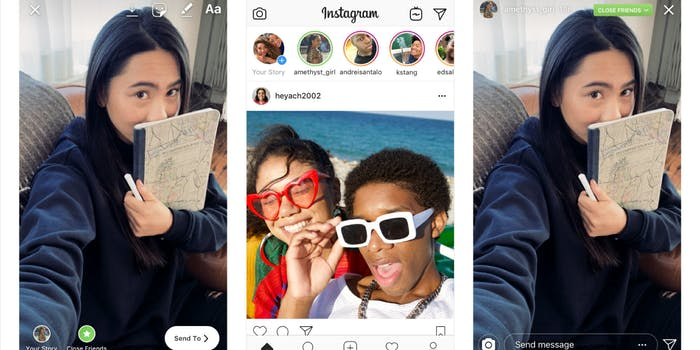 Instagram Close Friends introduces private ways to share Instagram Stories.