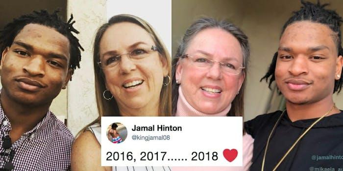 Jamal Hinton and Wanda Dench
