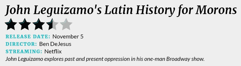 John Leguizamo's Latin History for Morons review box