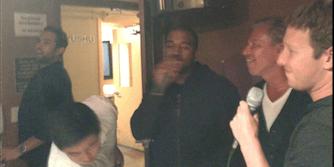 Kanye West and Mark Zuckerberg