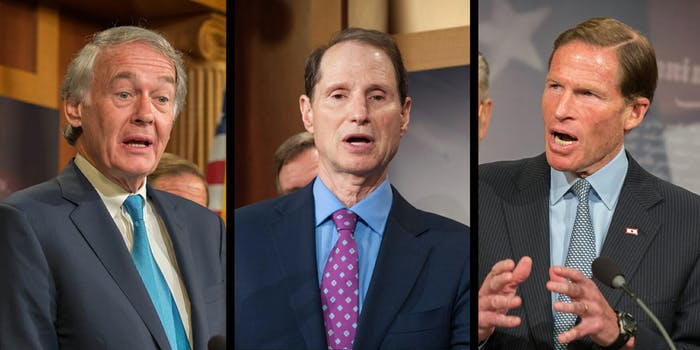 Three Democratic senators have sent a letter toAT&T, Verizon, Sprint, and T-Mobile after a study found they allegedly were throttling internet traffic.