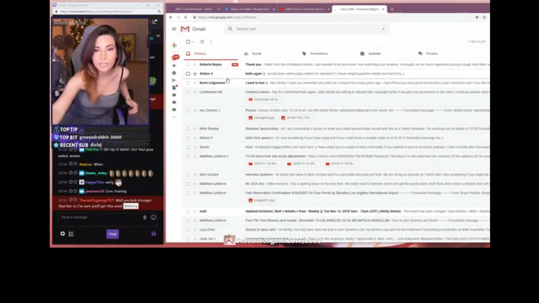 Twitch streamer accidental email stream