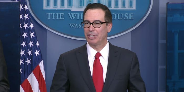Steve Mnuchin said on Wednesday that his account was used by someone who was not authorized to do so and posted a tweet critical of General Motors.