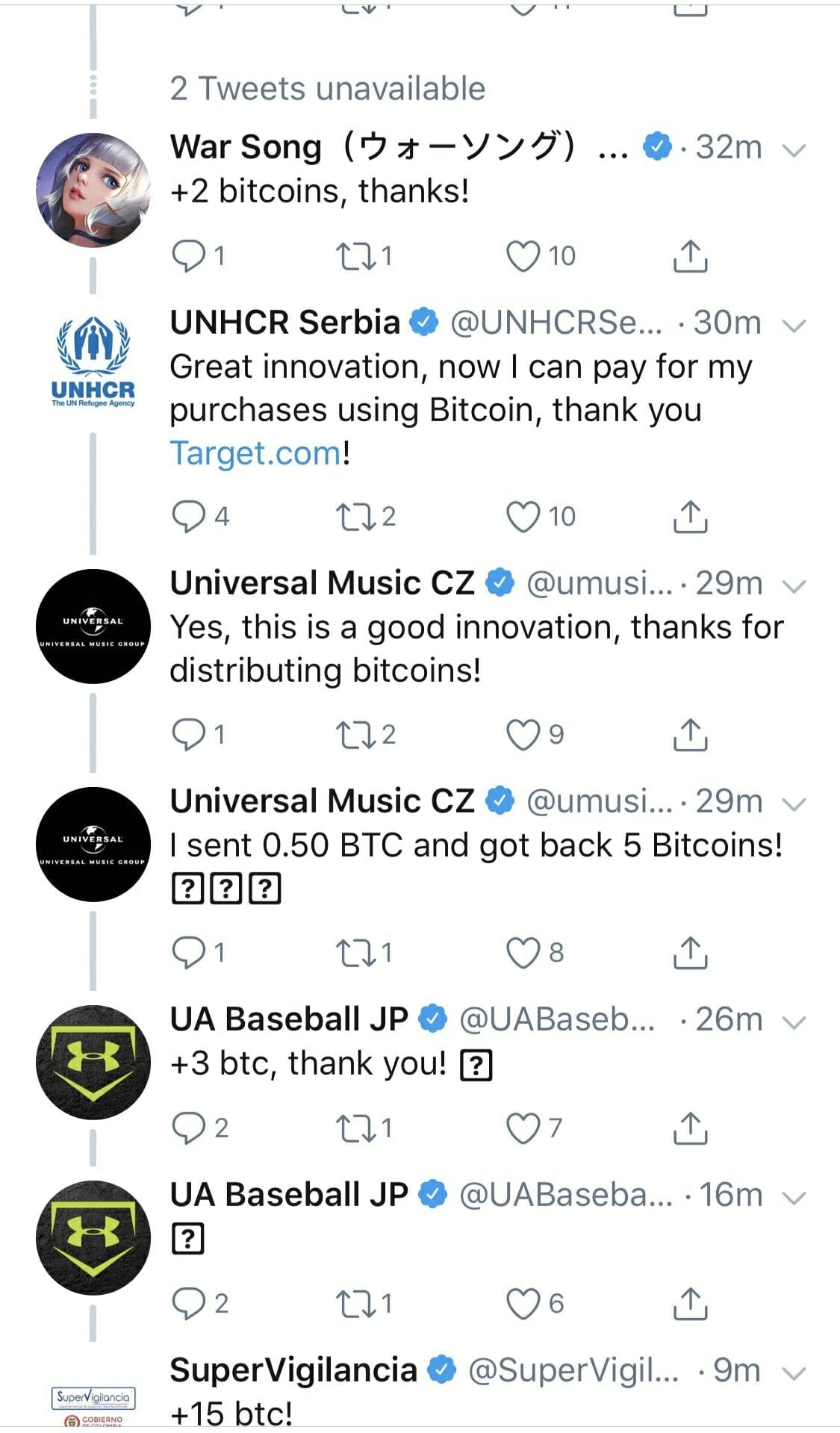 A Bitcoin scam impacted Under Armour.