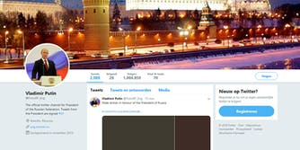 Twitter banned an account that was impersonating Vladimir Putin.
