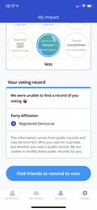 VoteWithMe uses public data in order to shame people into voting.