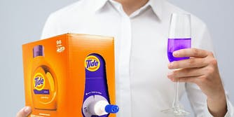 a glass of tide