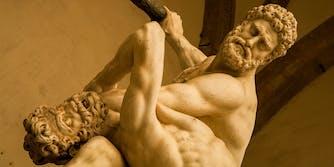 battling men
