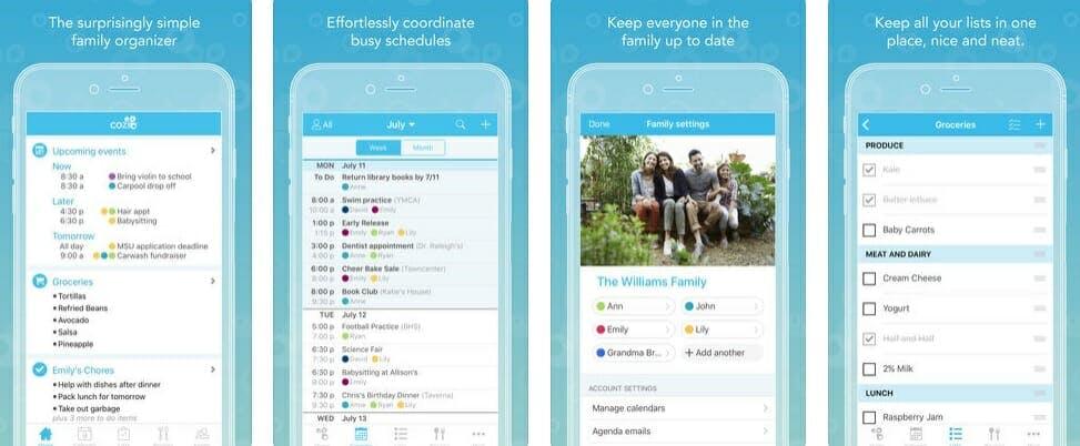 best calendar apps : cozi family organizer