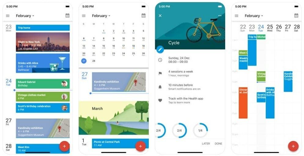 best calendar app : google calendar app