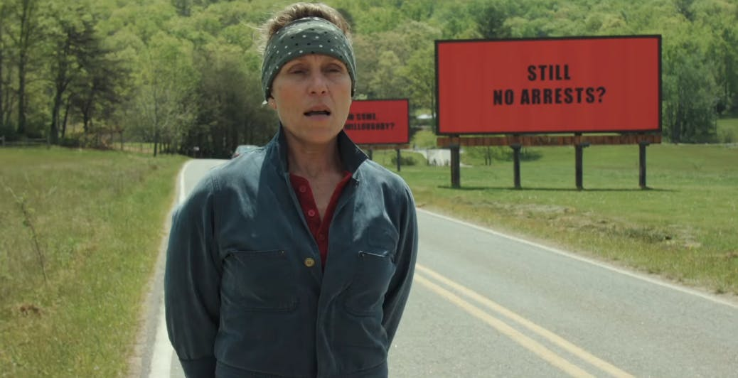 best new movies hbo - three billboards