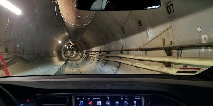 boring company tunnel interior