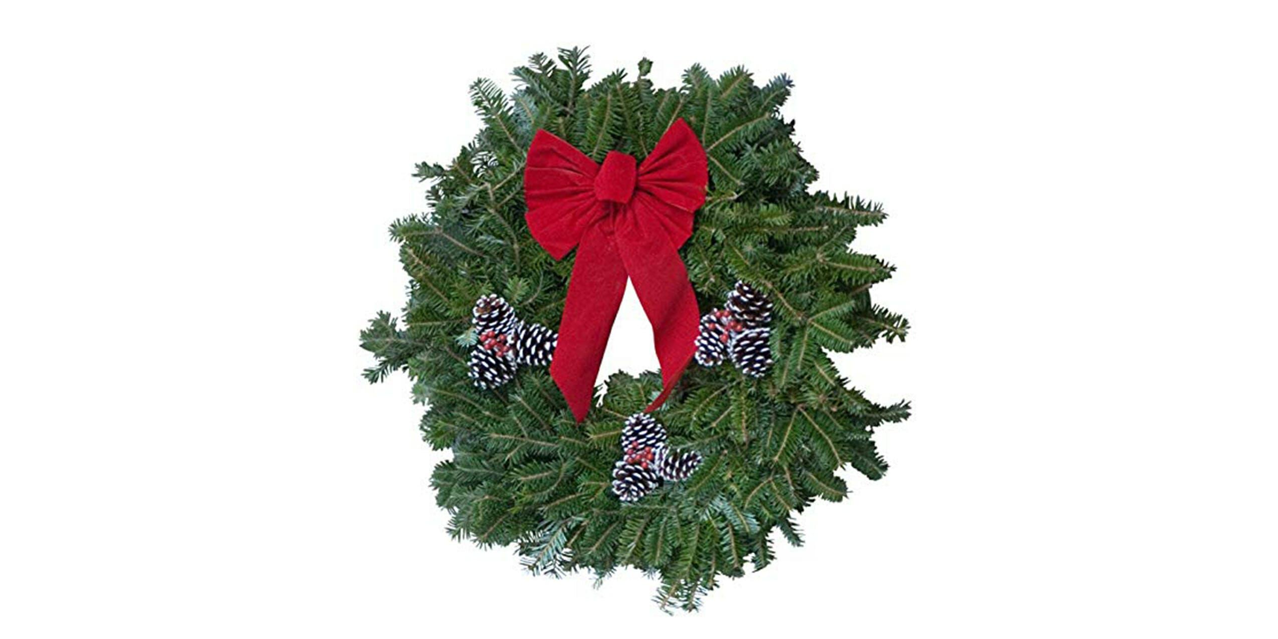 Christmas trees wreath