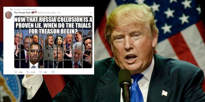 donald trump treason tweet
