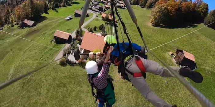hang glider YouTube Switzerland