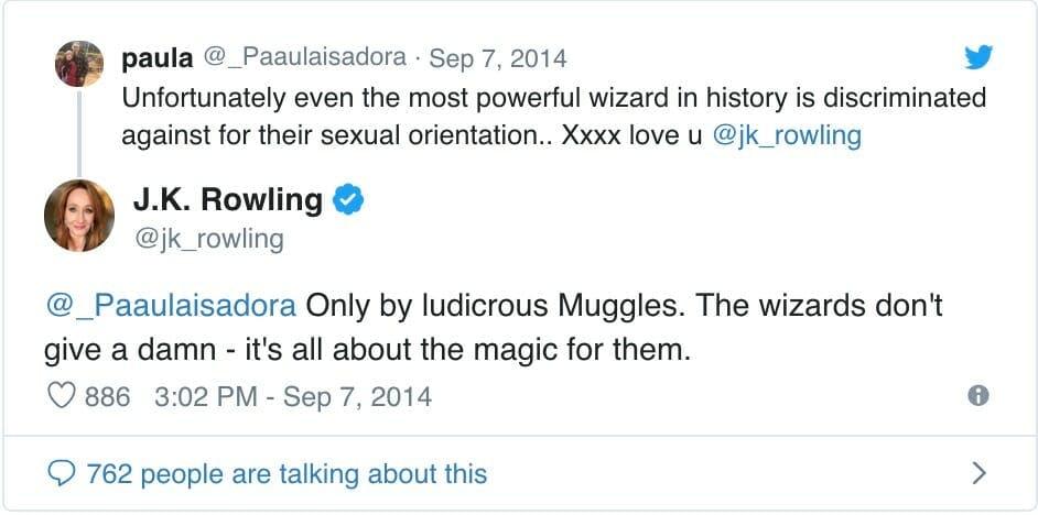 is dumbledore gay