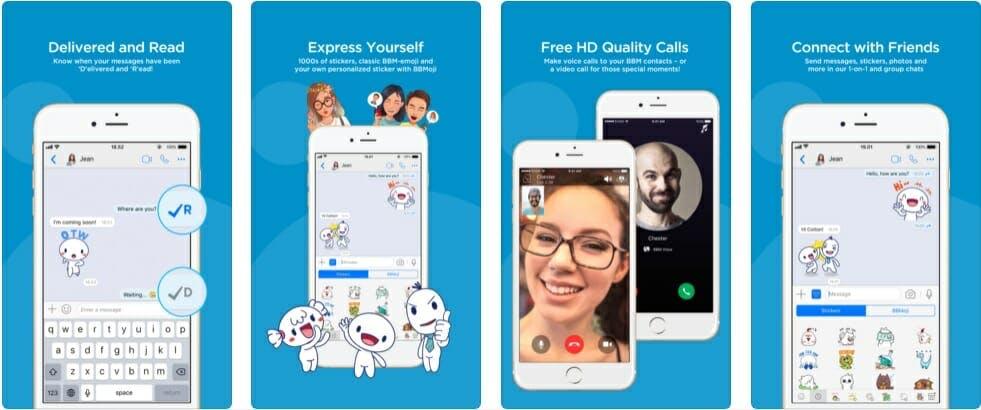 best messaging apps 2018 - bbm