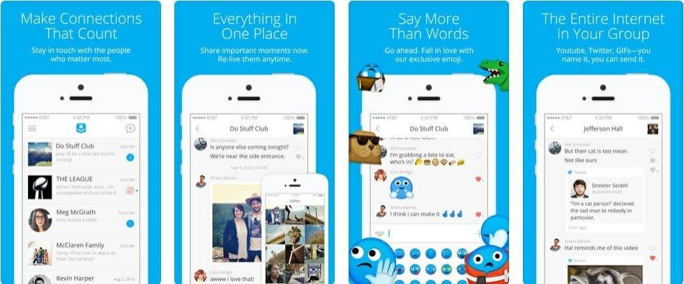 best messaging apps 2018 - groupme