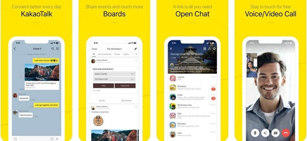 best messaging apps 2018 - kakao talk