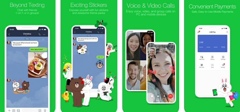 best messaging apps 2018 - line