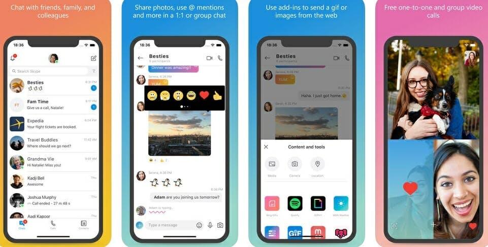best messaging apps 2018 - skype