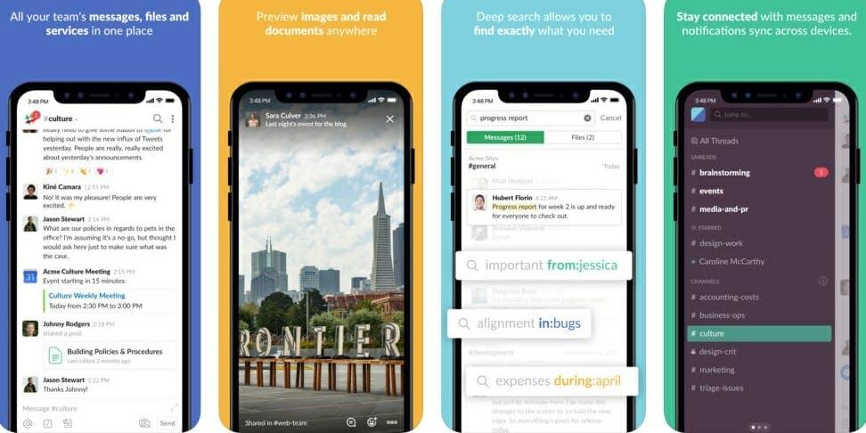 best messaging apps 2018 - slack