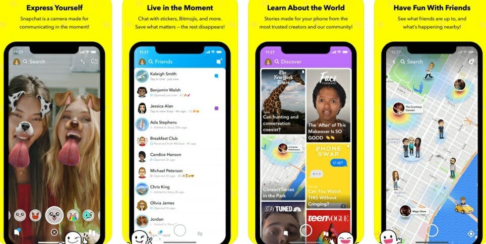 best messaging apps 2018 - snapchat