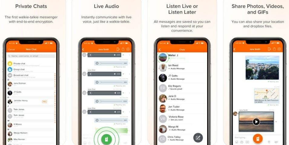 best messaging apps 2018 - voxer