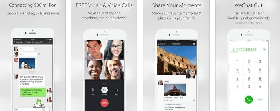 best messaging apps 2018 - wechat