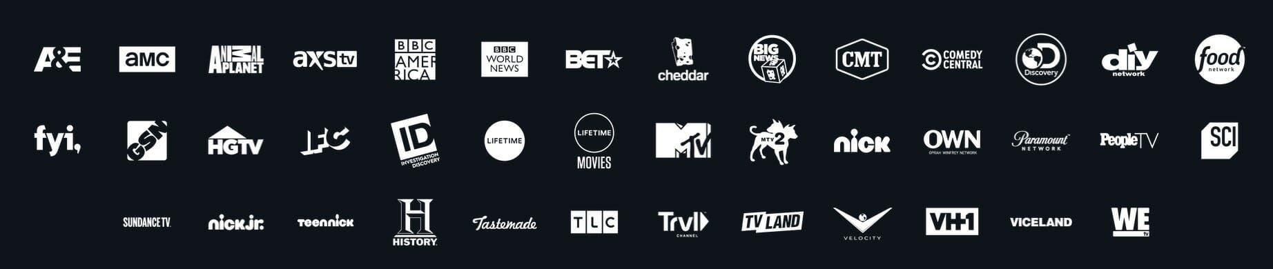 sling tv competitors philo channels