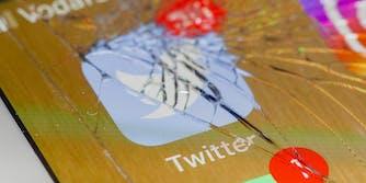 twitter smashed phone