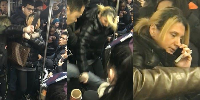 Anna Lushchinskaya racist NYC subway attack