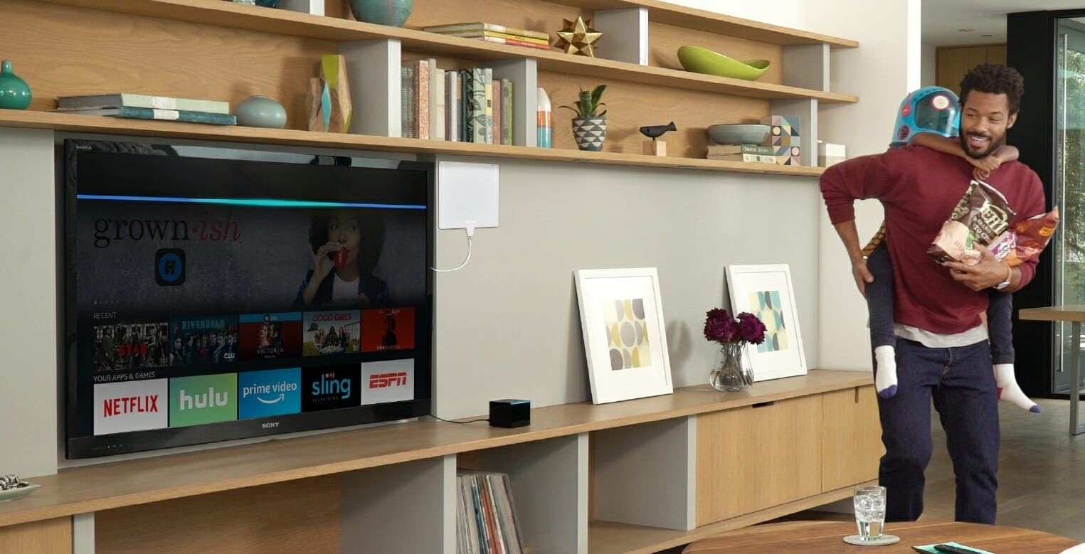 Amazon Fire TV Cube in living room