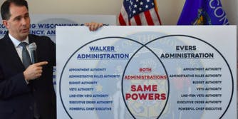 scott walker doesn't know how to use a venn diagram