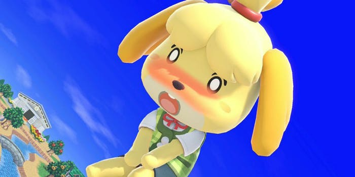 Super Smash Bros. Ultimate characters blush after being exposed to curry. Some compare it to Ahegao.
