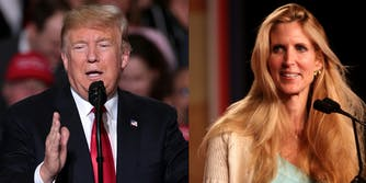 President Donald Trump no longer follows right-wing pundit Ann Coulter on Twitter, just hours after she called him 'gutless' over his border wall.