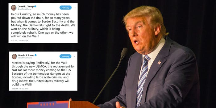 Trump Border Wall Tweets