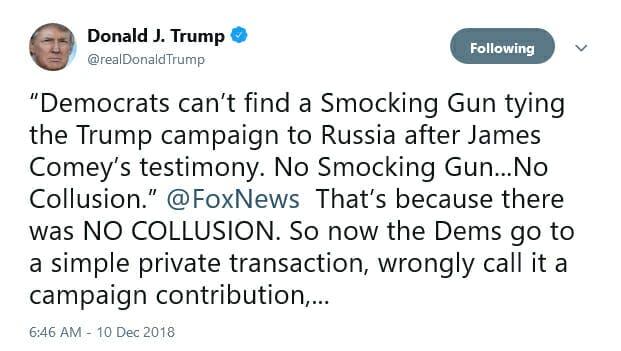 Trump Smocking Gun Tweet