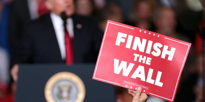 One GoFundMe to build Trump's wall is sparking controversy.