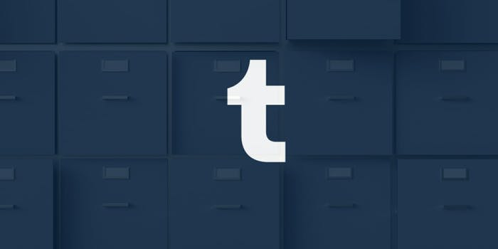 Tumblr allegedly blocked the Archive Team from archiving data.