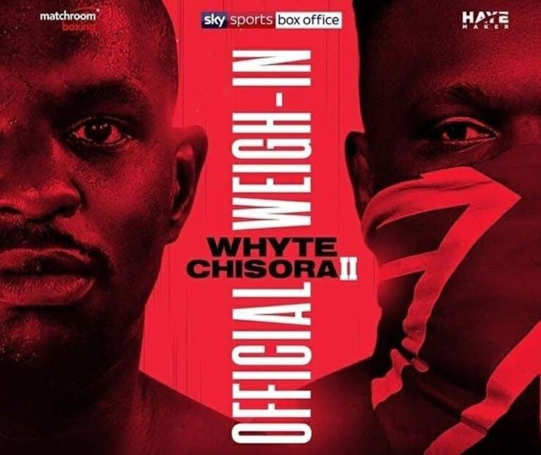 Dillian Whyte vs Derek Chisora live stream free
