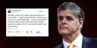 hannity deletes Michael Cohen tweets