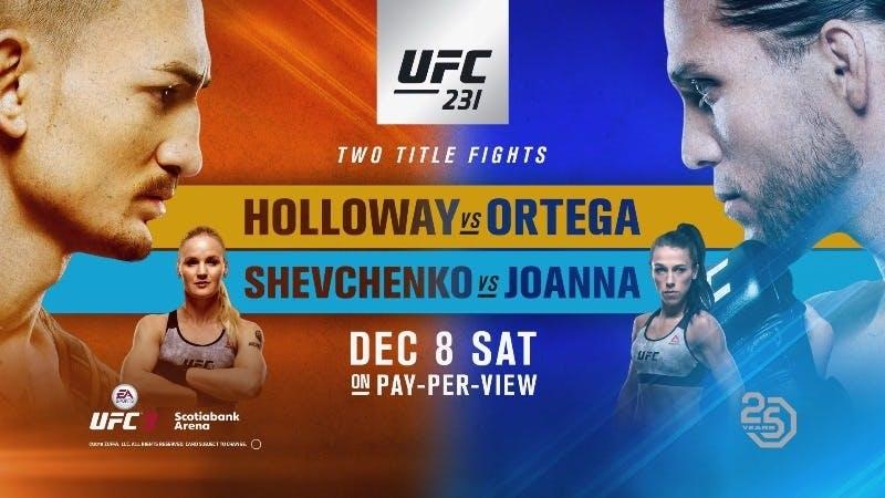 Holloway vs Ortega live stream on Amazon Prime