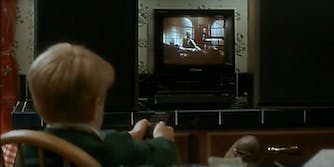 The clip of 'Angels With Filthy Souls' in 'Home Alone' isn't from a real movie.