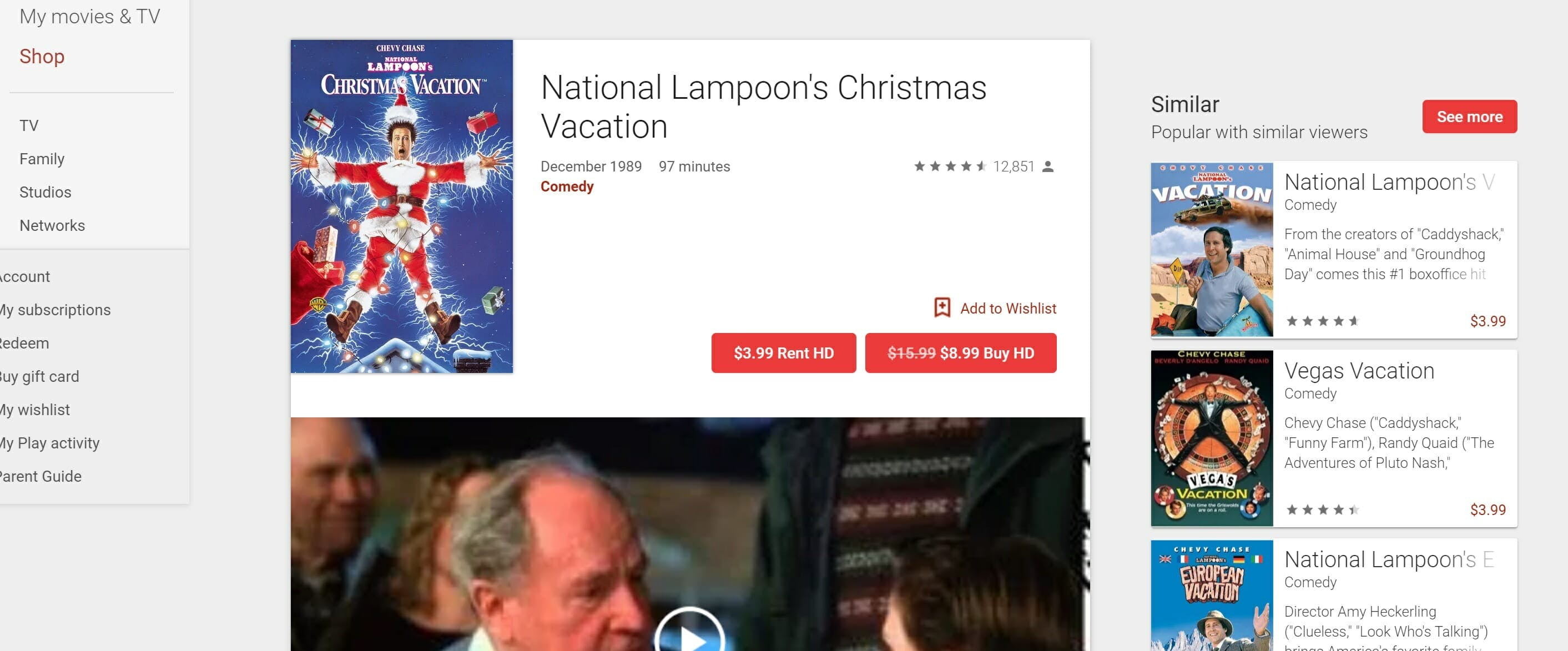 watch christmas vacation online free - youtube movies